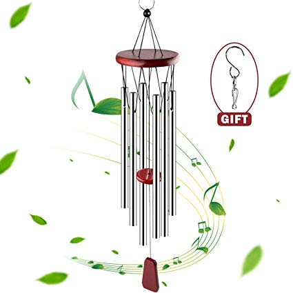 FittiDoll Wind Chime 6 Metal Tubes Perfect for Patio, Garden, and Outdoor  Home Décor 27 Inch.