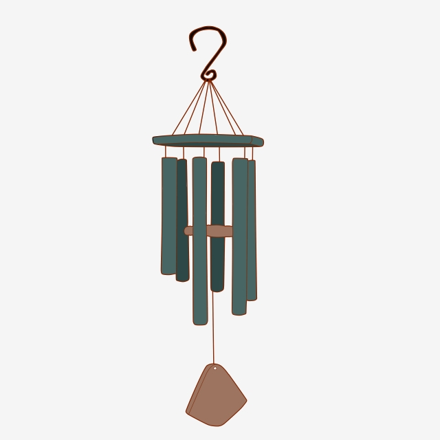 Wind Chime Decoration Cartoon Toy, Wind Chimes, Decorations, Toys.