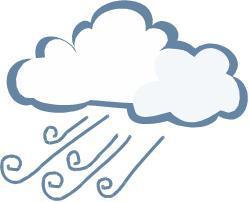 Cloud wind clipart.