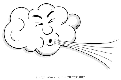 Wind Blowing Clipart Black And White.