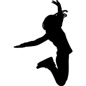 Girl jumping.