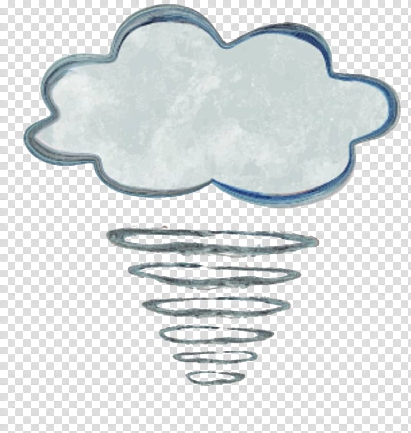 Wind Tornado Cloud Illustration, Hand.