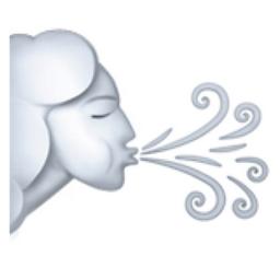 Wind Face Emoji (U+1F32C).