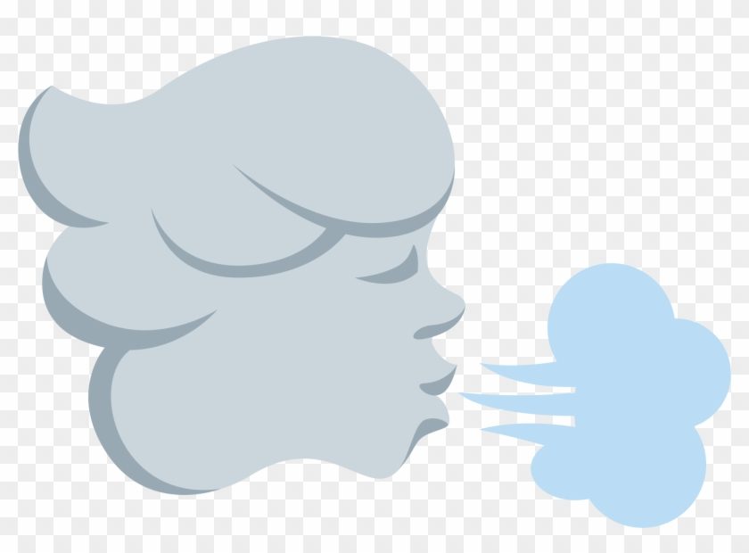 Wind Blowing Face Sticker By Twitterverified Account.