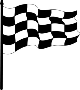 Checkered Flag Clipart Image.