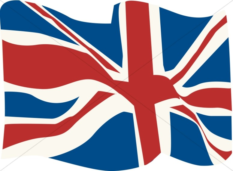 British Flag in the WInd.