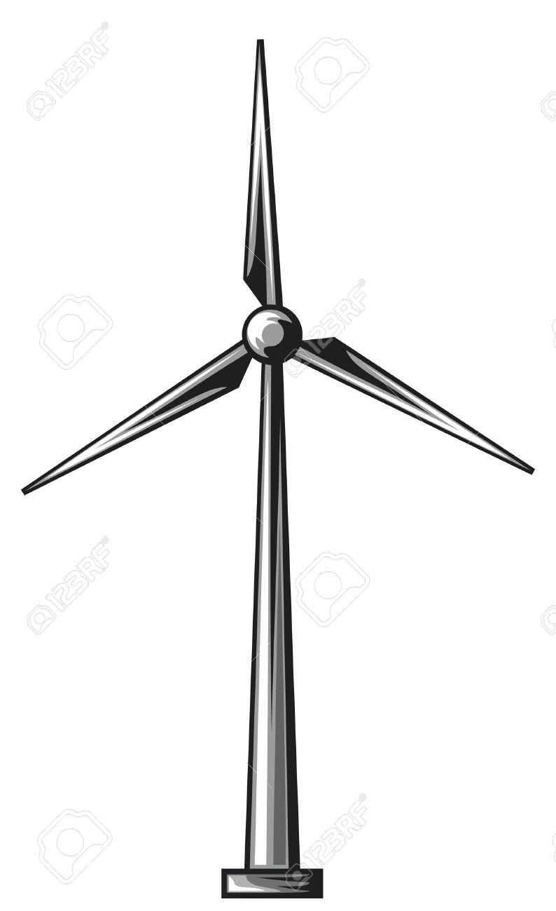 wind generators clipart