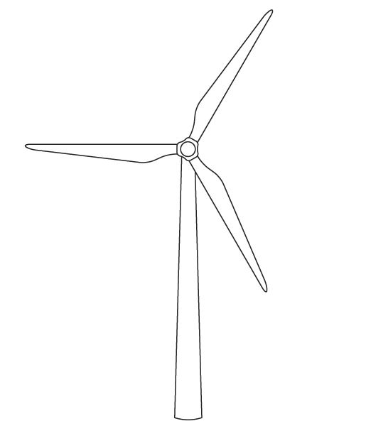 Clipart wind turbine.