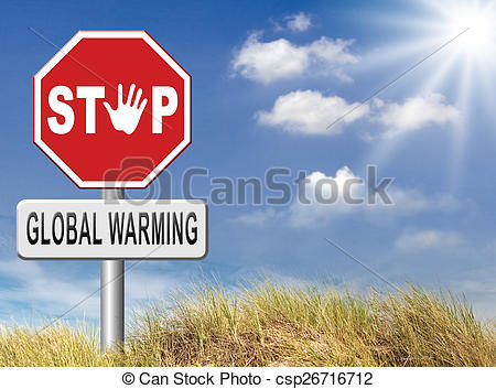 Clipart of stop global warming and climate change carbon neutral.