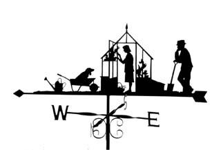 Greenhouse Weathervanes, Wind Vanes, Weathercock, Traditional.