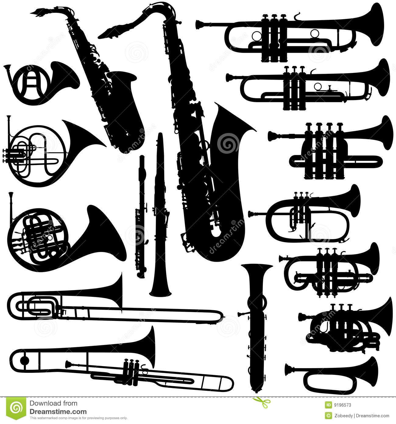 Clipart Brass Instruments.