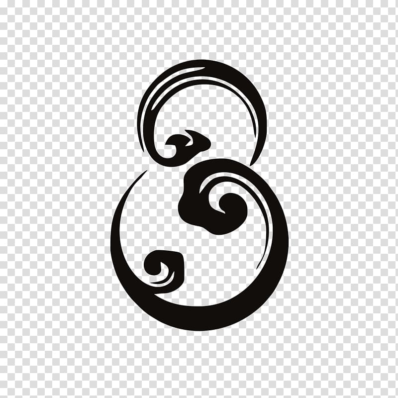 Logo Chinoiserie, Chinese wind number 8 transparent.