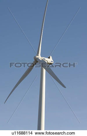 Stock Photo of Upper portion of wind turbine u11688114.