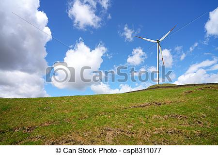 Wind on the hill.