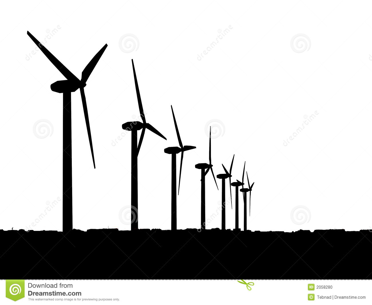 Wind Generators Stock Photo.