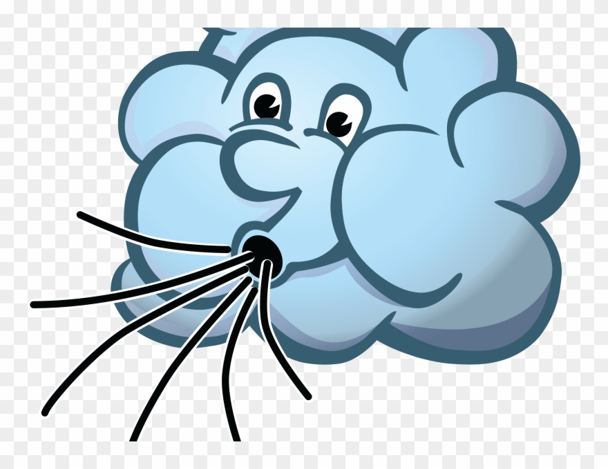 Download Fetching Cloud Blowing Wind Clip Art.