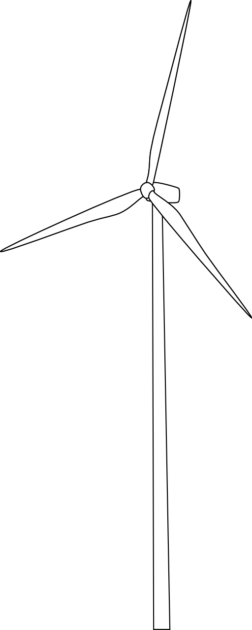 Wind Turbine Clipart.