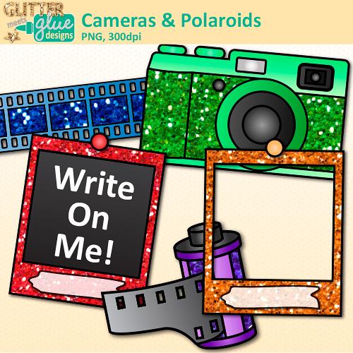 Camera and Polaroid Clip Art.