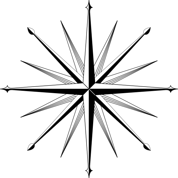 Wind Rose Compass Rose clip art Free Vector / 4Vector.