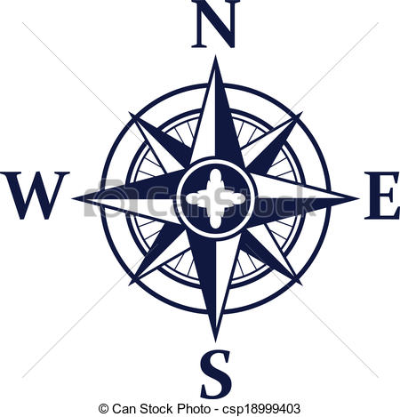 Vector Clipart of Wind rose.