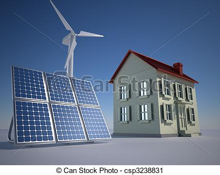 Clipart of Alternative energy.