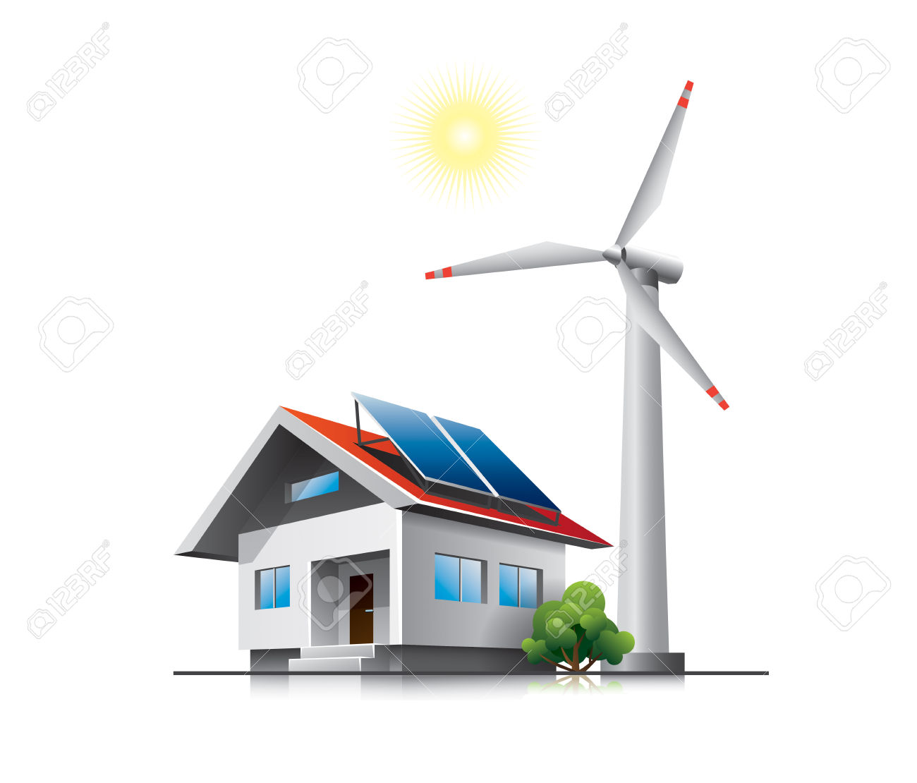 4,947 Solar Panels House Stock Illustrations, Cliparts And Royalty.