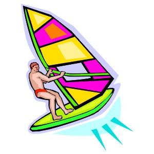 Windsurfing clipart.