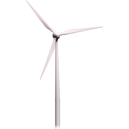 Wind Turbine transparent PNG.