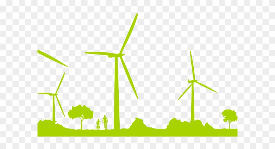 Wind Turbine Clipart Green.