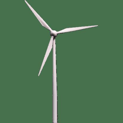 Wind Turbine transparent PNG.