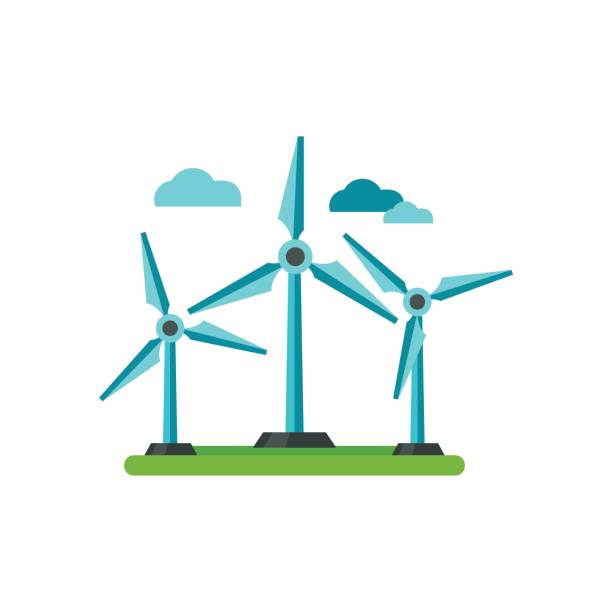 Best Wind Turbine Illustrations, Royalty.