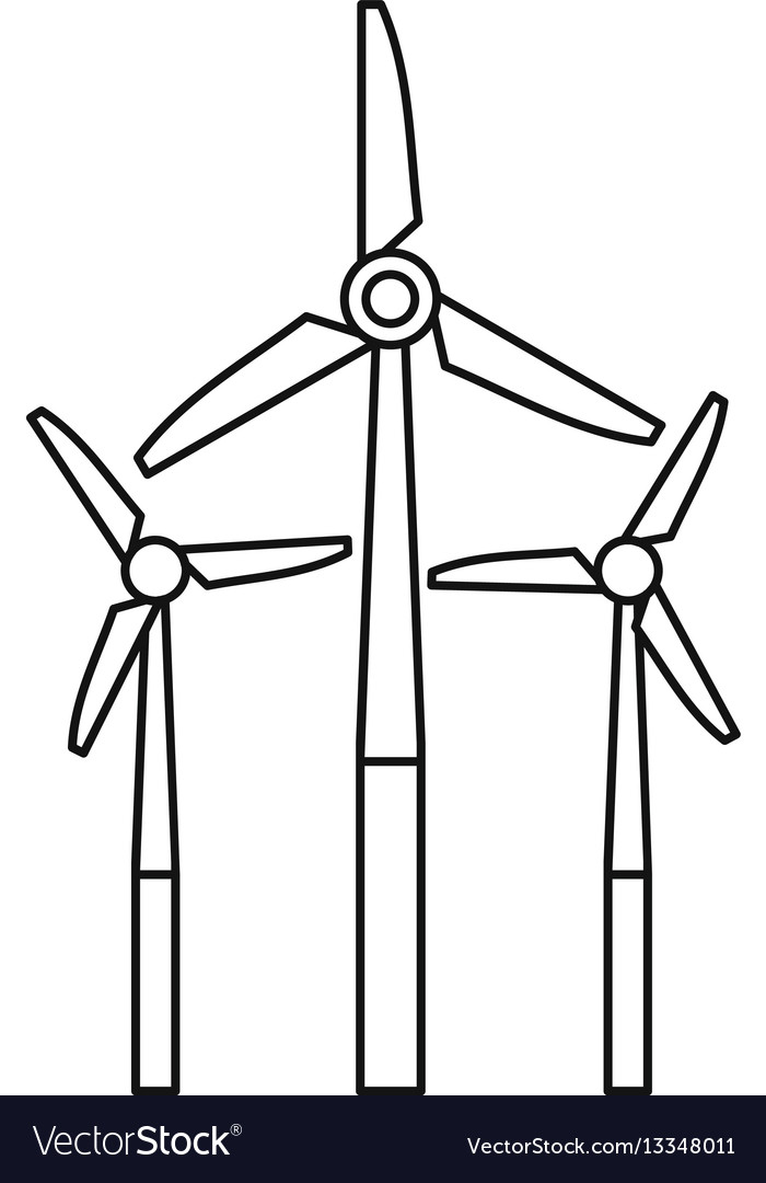 Windmill icon outline style.