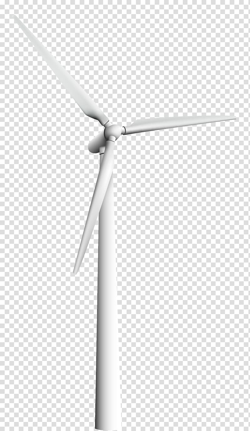 White wind turbine , Wind turbine Black and white Energy, white.