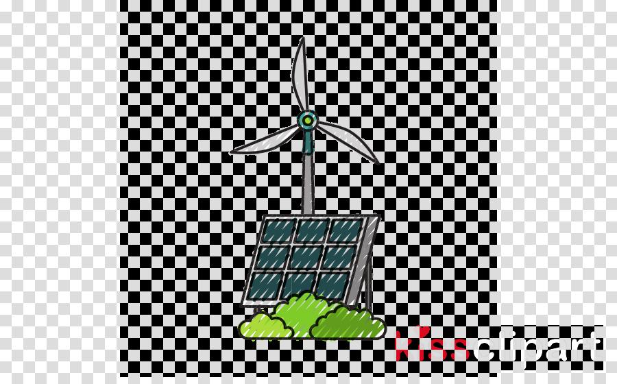 windmill green wind technology wind turbine clipart.