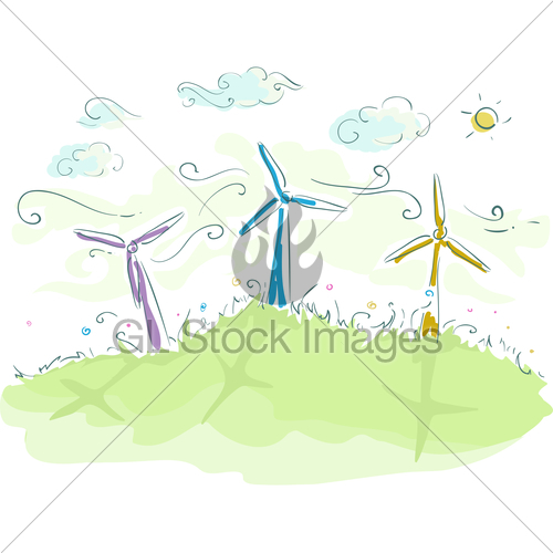 Sketch Wind Energy · GL Stock Images.