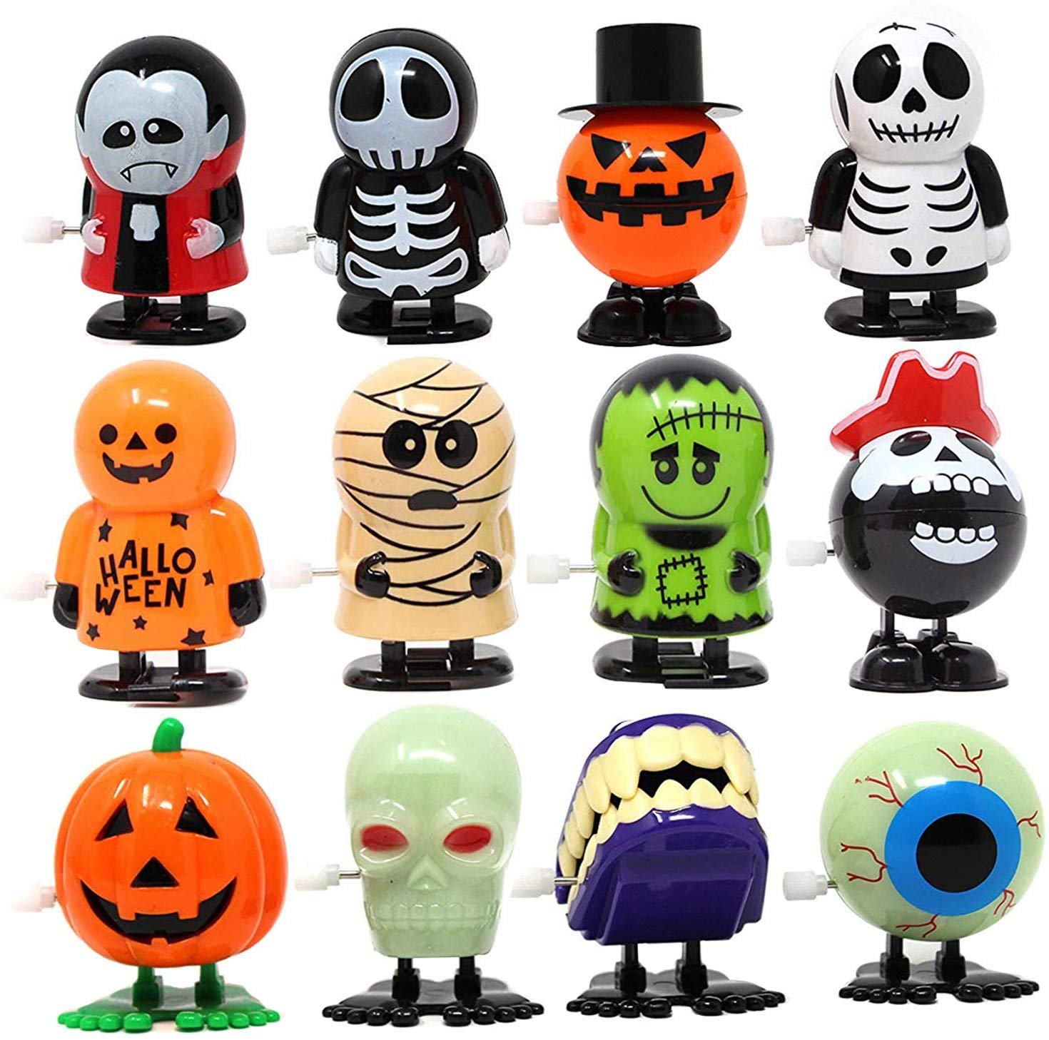 JOYIN 12 Pack Halloween Wind Up Toy Assortments for Halloween Party Favor  Goody Bag Filler (12 Pieces Pack).