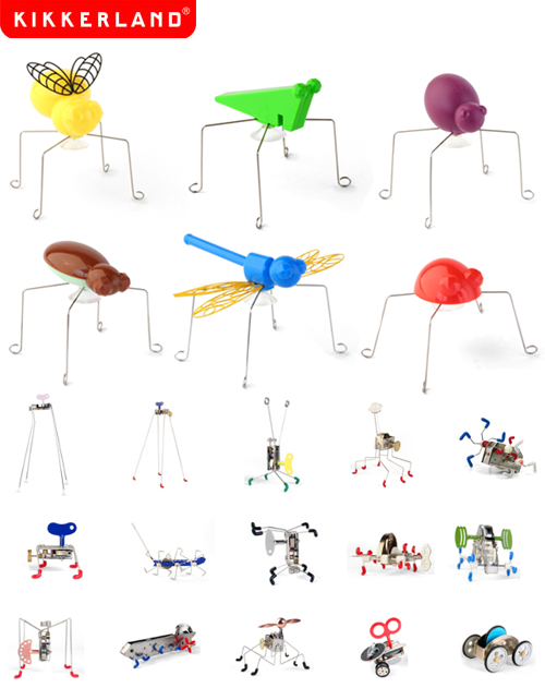 It\'s A Wind Up: Kikkerland Wind Up Bugs & Jumping Critters.