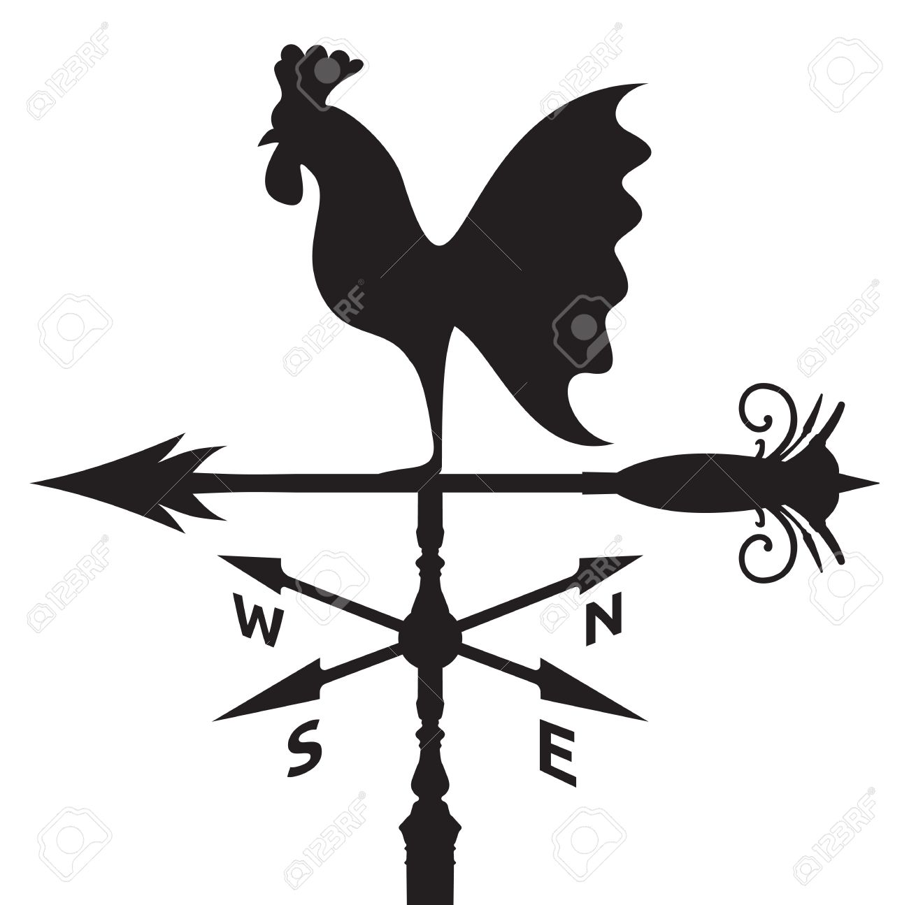 2318 Rooster free clipart.