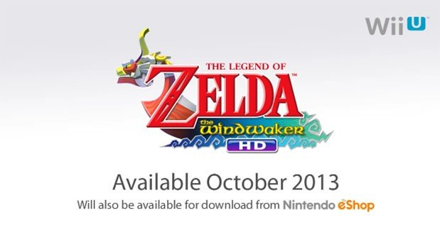 The Legend of Zelda: the Wind Waker HD launches in October.