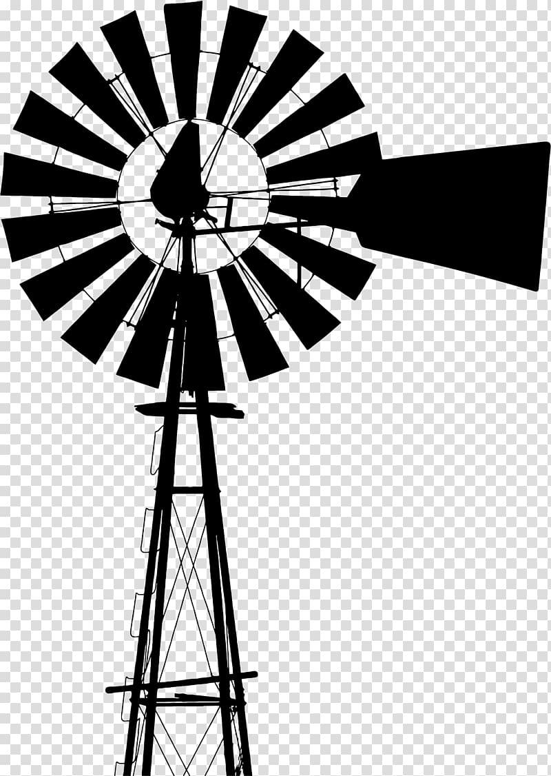 Black windmill illustration, Windmill Agriculture Farm Wind.