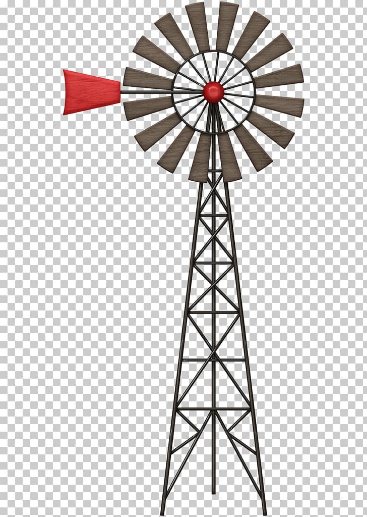 Wind farm Windmill Windpump , others, garden wheel art PNG.