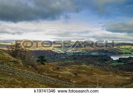 Stock Images of Lake District View Over Windermere k19741346.