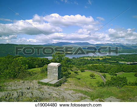 Stock Photography of England, Cumbria, Windermere, Views of.