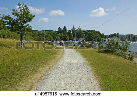 Stock Image of England, Cumbria, Bowness.