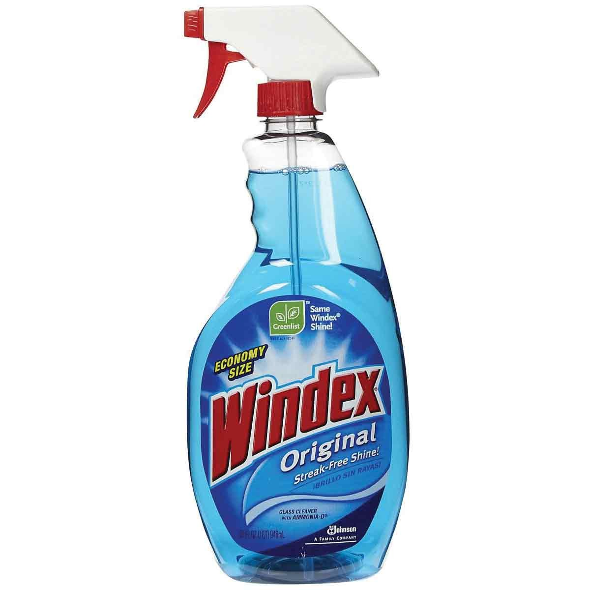 Windex Glass Cleaner.