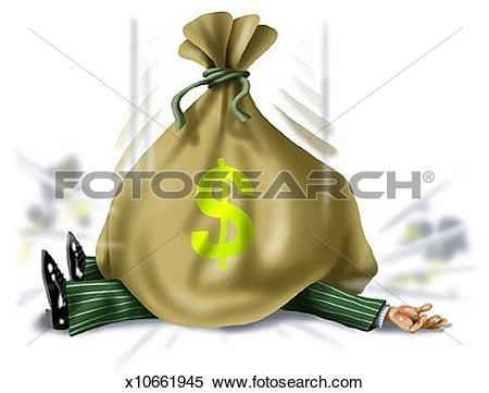 Stock Illustration of Windfall of Money x10661945.