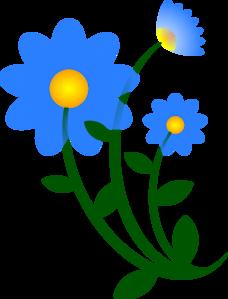Blue Flowers Clip Art at Clker.com.