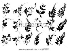 Winding branches clipart #4