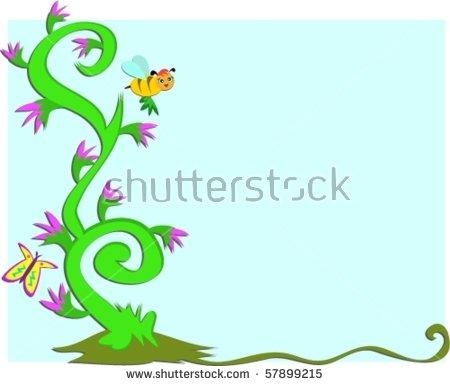 Mushroom On Winding Branches Vector Stock Vector 57899221.