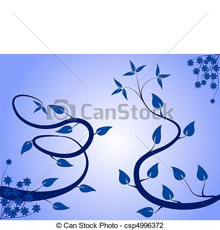 Vector Illustration of An abstract floral background ilustration.
